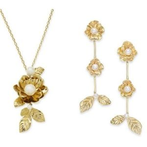 KATE SPADE Lavish Blooms Earrings & Long Necklace